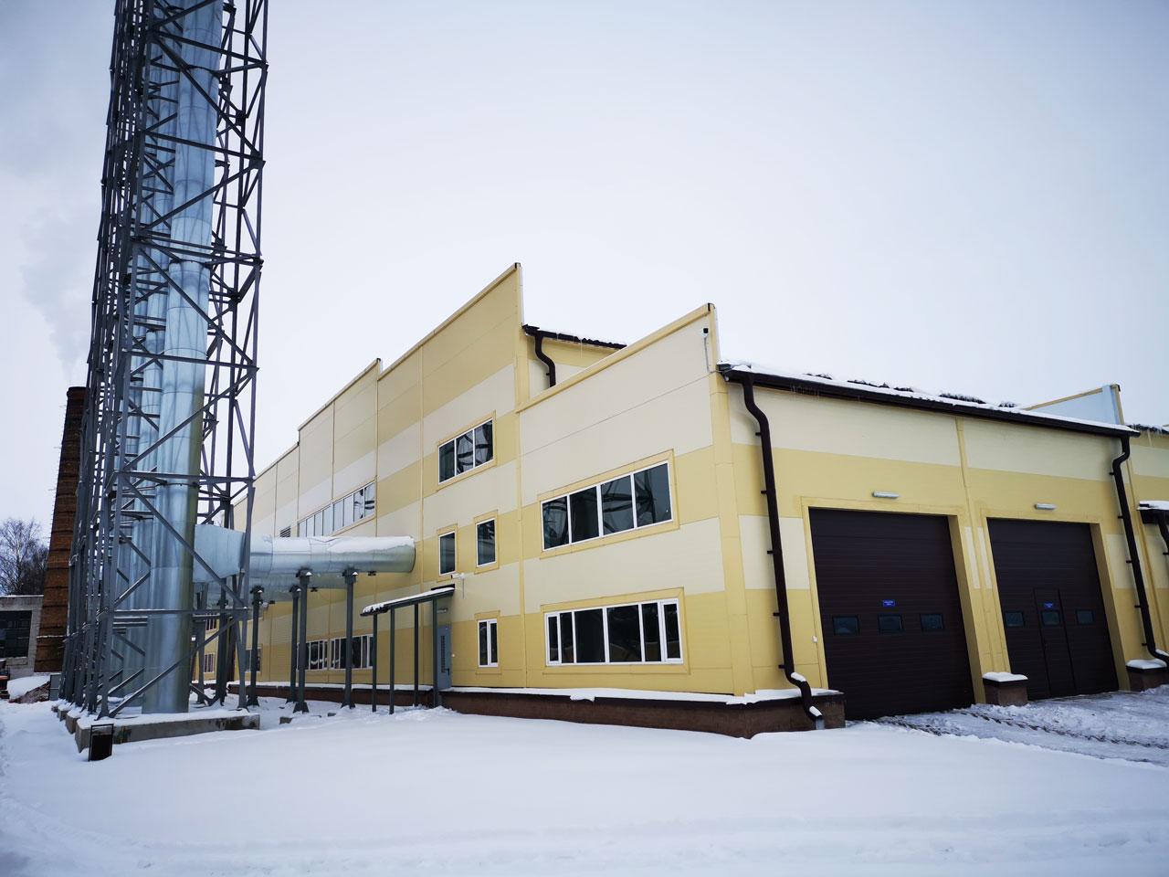 здание котельной на фрезерном торфе в Слуцке