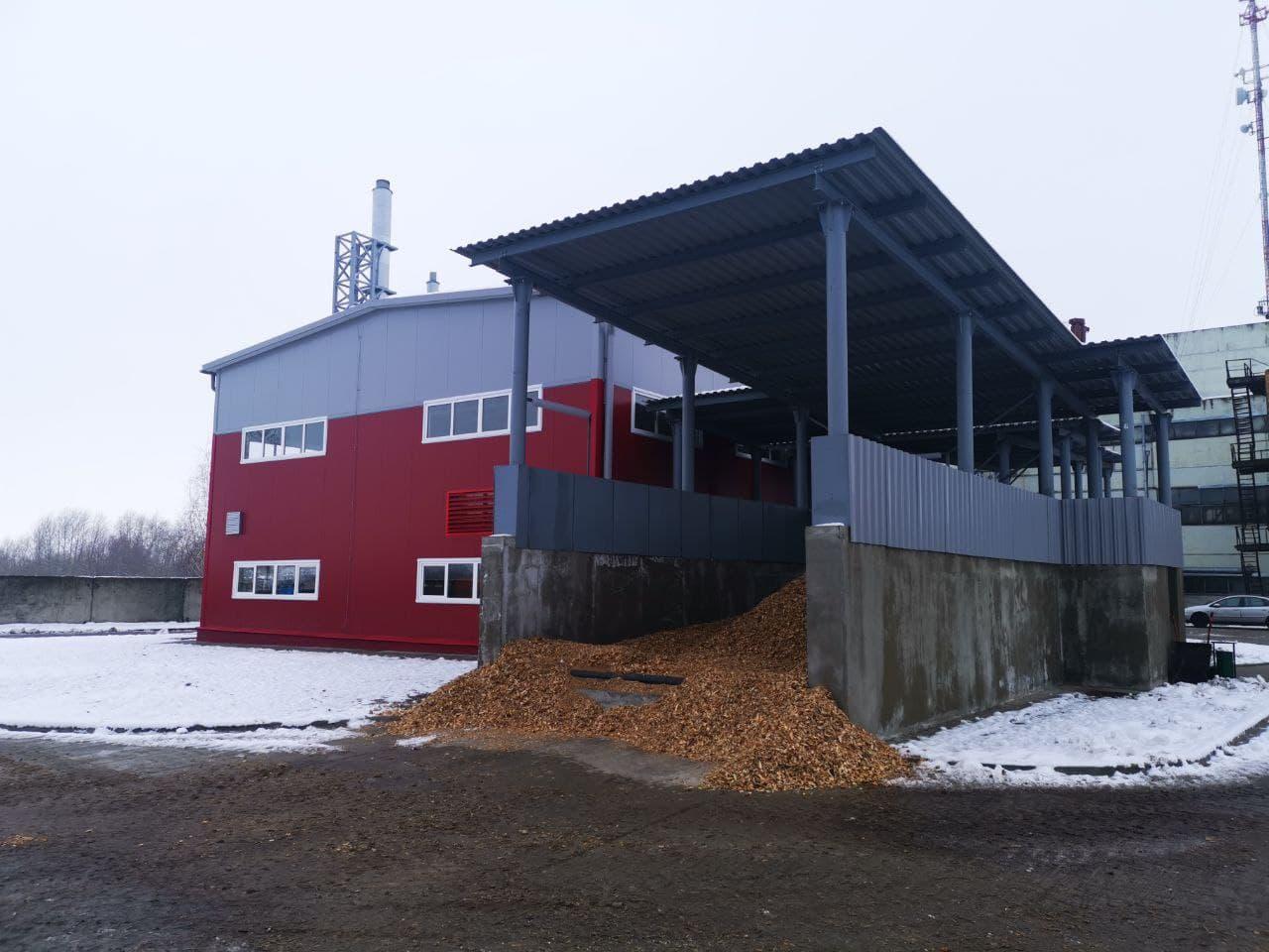 здание котельной на местных видах топлива в Давид-Городок (ул. Калинина)