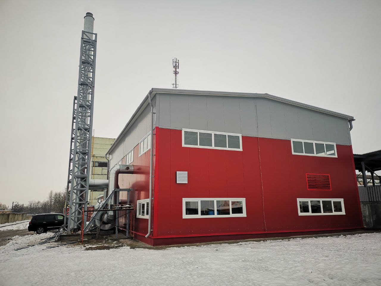 здание котельной на местных видах топлива в Давид-Городок