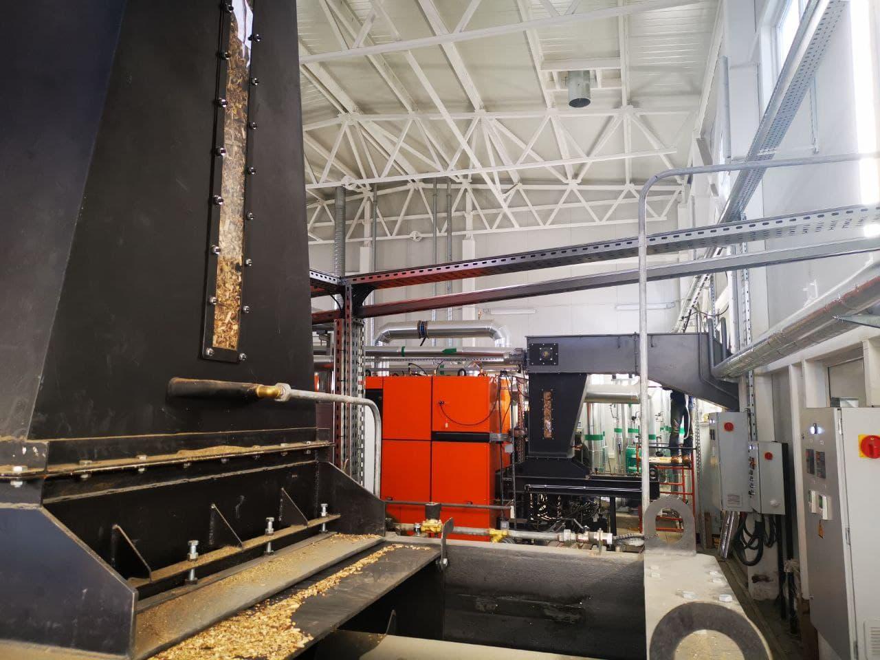 котельная на МВТ - модуль для загрузки топлива (древесной щепы)