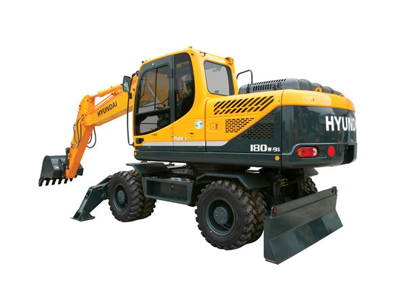 Колесный экскаватор Hyundai R180W-9S